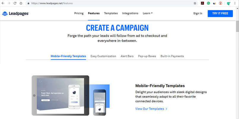 Clickfunnels Alternative - Leadpages